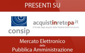 Presenti su Mercato elettronico della Pubblica Amministrazione
